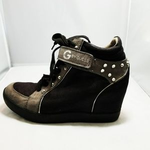 G By Guess Studded Wedge Boot Shoes 7.5